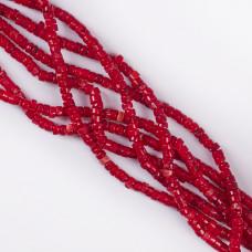 Koral czerwony krążek nieregularny 5x3mm