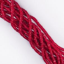 Koral czerwony krążek nieregularny 5x2mm