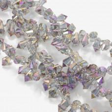 Kryształki drop fasetowane violet shade 6x11mm