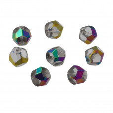 bryłki fasetowane metalic crystal 10mm