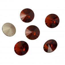 Kryształek rivoli red magma 12mm