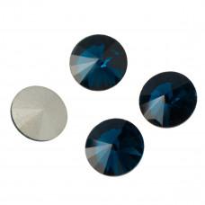 Kryształek rivoli bermuda blue 14mm
