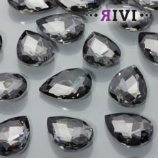 Kaboszon kryształowy black diamond 18x25mm