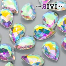 Kaboszon kryształowy crystal AB 18x25mm