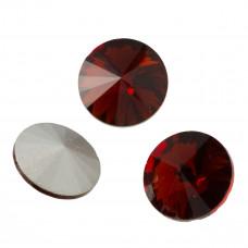 Kryształek rivoli dark idnian red 18mm