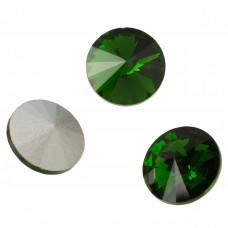 Kryształek rivoli fern green 18mm