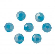 Kryształki kulka fasetowana turquoise AB 10mm