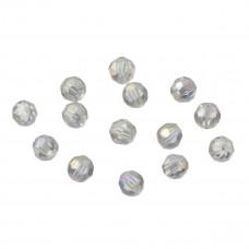 Kryształki kulki fasetowane crystal AB 6mm