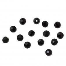 Kryształki kulki fasetowane jet 6mm