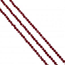 Kryształki kulka fasetowana dark ruby 6mm