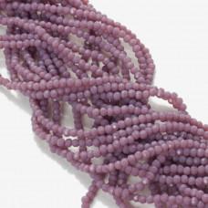 Kryształki kulki fasetowane ceramic purple 2mm