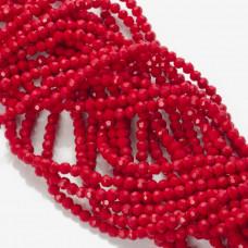 Kryształki kulki fasetowane dark red 3mm