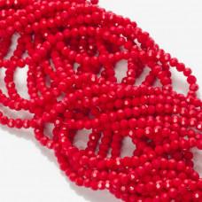 Kryształki kulki fasetowane ceramic red 3mm