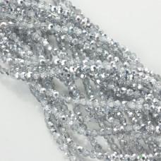 Kryształki kulki fasetowane silver shadow 3mm