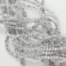 Kryształki kulki fasetowane grey shade AB 3mm