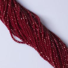 Kryształki kulki fasetowane bloody red 3mm