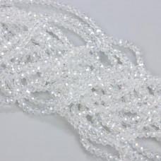 Kryształki oponki fasetowane crystal AB 3x4mm