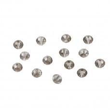 Oponka briolette silver night 4x6mm