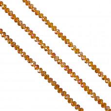 Oponka briolette orange AB 4x6mm