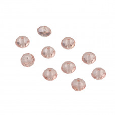 Oponki fasetowane light rose 6x8mm