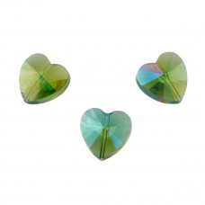 Heart bead amethyst AB 14mm