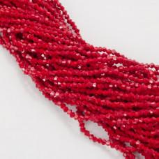 Kryształki bicone fasetowane 3mm dark red