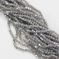 Kryształki bicone fasetowane 4mm shinny grey