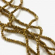 Kryształki oponki golden shine 2x3mm