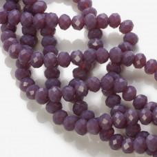 Kryształki oponki fasetowane porcelain purple 6x8mm