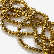 Kryształki oponki metalic gold 4x6mm
