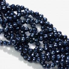 Kryształki kulki blue hematite 6mm