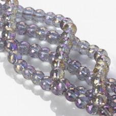 Kryształki drum purple shadow 8x10mm