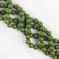 Koraliki szklane powlekane zielone 10mm