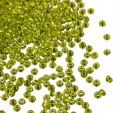 Koraliki drobne Silver-Lined Lime Green 2mm
