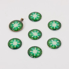 Kaboszon szklany kalejdoskop 20mm zielony