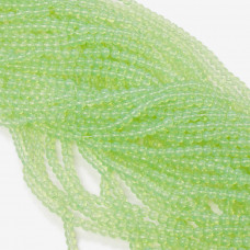 Koraliki szklane pistacjowe 4mm