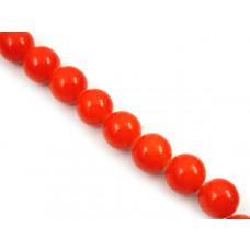 Kulki szklane malowane pomarańczowe 12mm