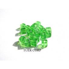 Szklane kostki zielone 4mm