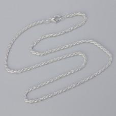 Łańcuszek gotowy skręcany kolor srebrny 42cm