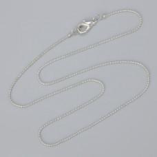 Łańcuszek gotowy bulion kolor srebrny 40cm