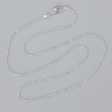 Łańcuszek gotowy bulion diamentowany kolor srebrny 40cm