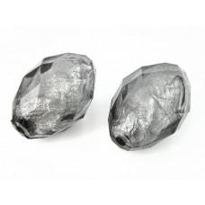 Oliwka akrylowa fasetowana czarny diament 40x20mm