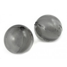 Kulka akrylowa brokatowa szara 24mm