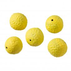Kulka fimo chropowata żółta 20mm