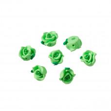 Kwiatek fimo zielony 12mm