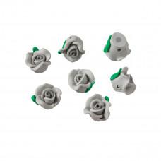 Kwiatek fimo szary 12mm