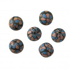 Kulka fimo czarno-niebieska 16mm