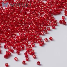 Koraliki Miyuki Delica 11/0 Silver Lined Red Dyed
