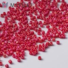 Koraliki Miyuki Delica 11/0 Matted Opaque Red AB