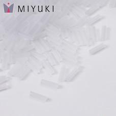 Koraliki Miyuki Bugles #2 6 mm Crystal Matted